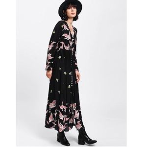 Dresses & Skirts - Black Button Up Birdie Maxi Dress